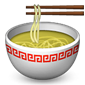 Noodle soup with chopsticks